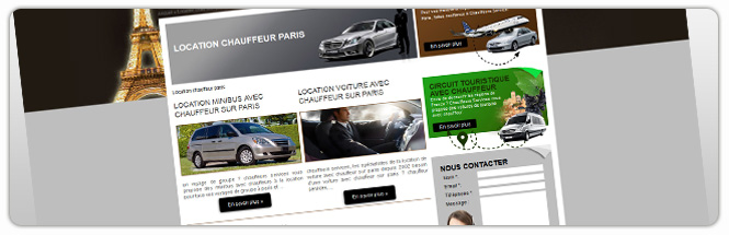 Carrecom web agency Chauffeurs services