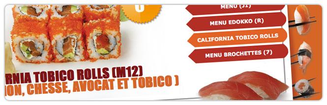 Carrecom web agency Sushi Edokko