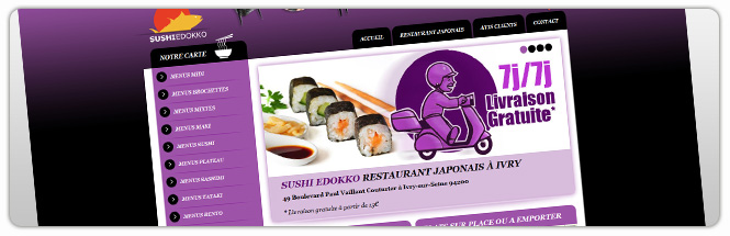 Carrecom web agency paris Sushi Edokko