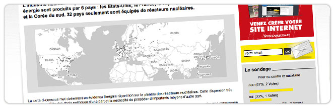 Carrecom web agency Infos Radiation